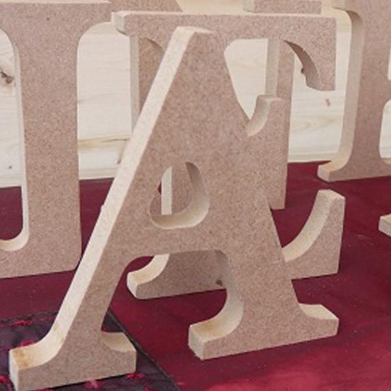 Letras de madera sin pintar 10cmx15mm una boda original - Casa letras madera ...