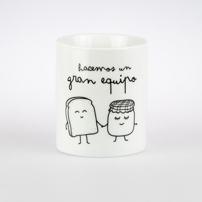 Mr wonderful taza hacemos un gran equipo una boda original for Decoracion tazas mr wonderful