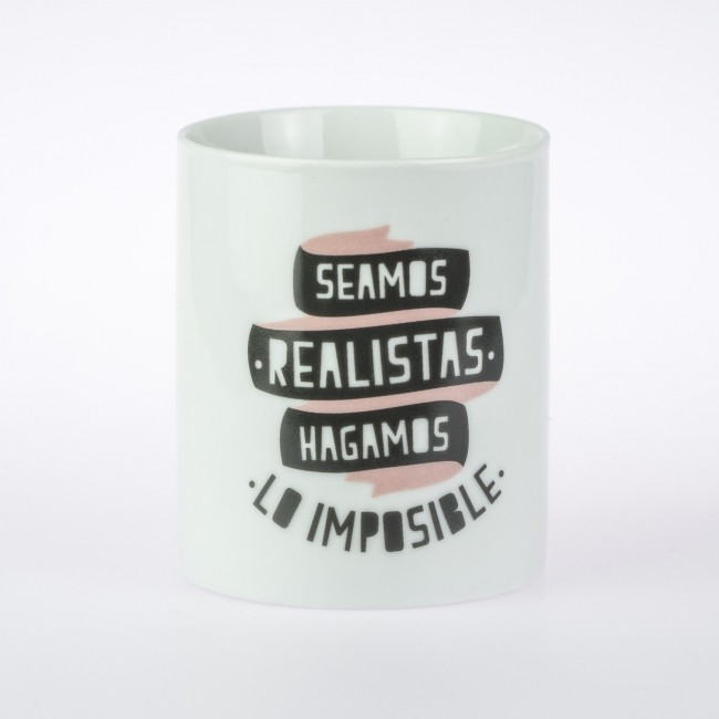 Mr wonderful taza seamos realistas hagamos lo imposible for Decoracion tazas mr wonderful