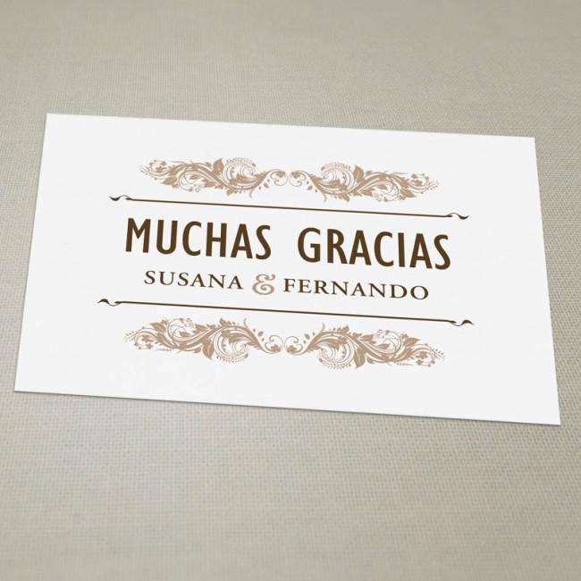 tarjeta de agradecimiento boda thevillas co