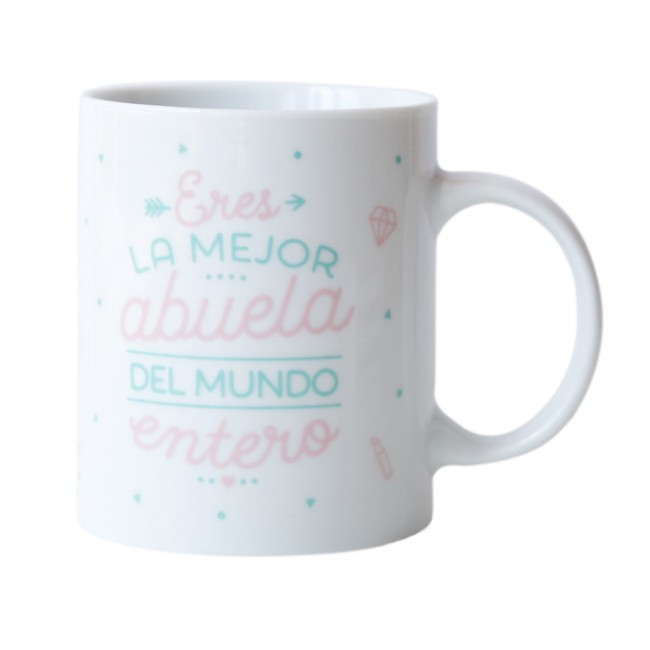 Mr wonderful taza eres la mejor abuela del mundo una for Decoracion tazas mr wonderful