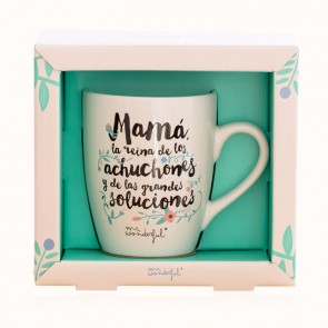 Taza Mr Wonderful Mamá la reina de los achuchones