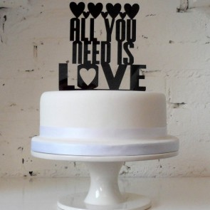 All you need is love, decoración de tarta