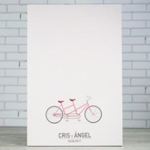 Árbol de huellas bicicleta