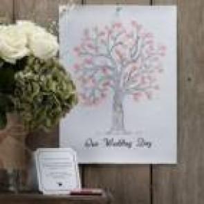 Árbol de huellas para boda