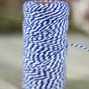 Baker's Twine azul marino y blanco (75m)