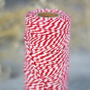 Baker's Twine rojo y blanco (75m)