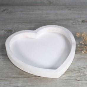 Bandeja blanca forma corazón