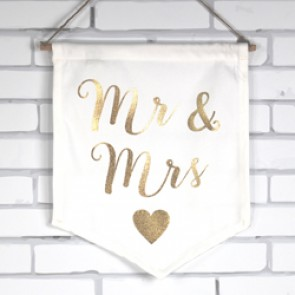 Banderin Mr Mrs