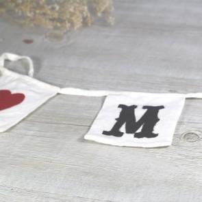 Guirnalda de banderines Mr and Mrs