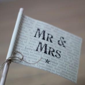 Banderita Mr Mrs
