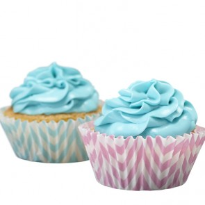 Bases de cupcake chevron (25 uds.)