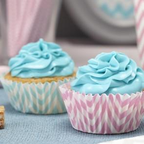 Bases de cupcake chevron