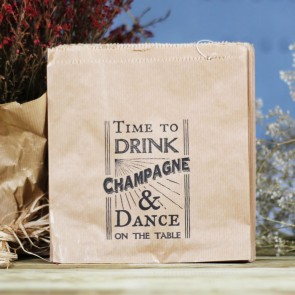 Bolsa de kraft Time to drink Champagne