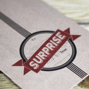 Bolsa kraft con fuelle Surprise