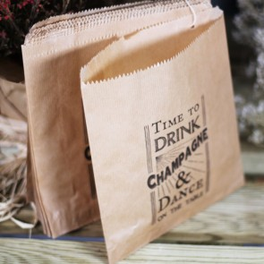 Bolsa kraft Time to Drink Champagne and Dance on the Table (40 uds)