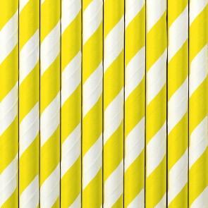 Cañitas rayas amarillas