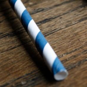 Cañitas rayas azul marino 25 uds.