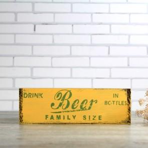 Caja vintage de madera para cerveza