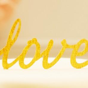 Cake topper Love glitter