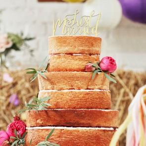 Adorno de tarta Just Married
