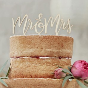 Cake topper Mr Mrs boho comprar