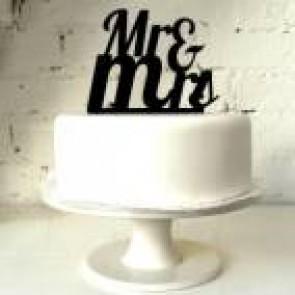 Cake topper Mr Mrs