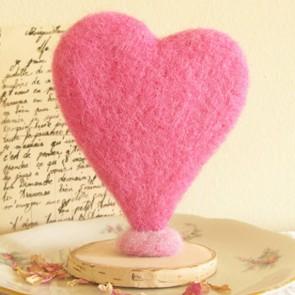Cake Topper corazón de algodón de azucar