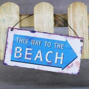 Placa de metal Beach