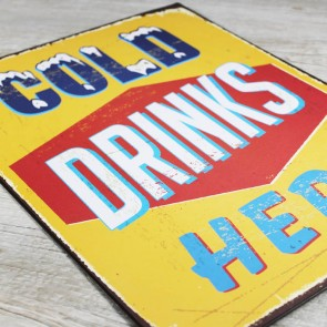 Placa Cold Drinks