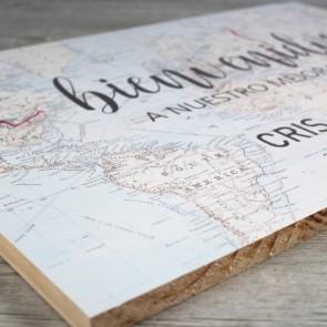 Cartel Bienvenidos a nuestro mejor viaje