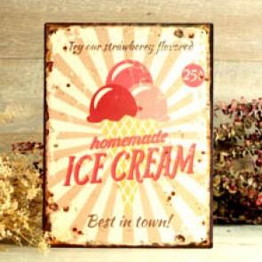 Cartel helados