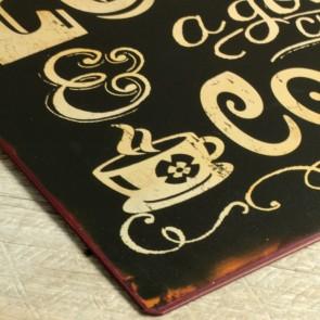 Placa de metal Love and Coffee