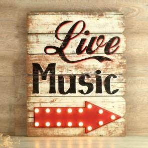 Cartel luminoso Live Music (66x54)