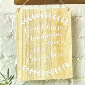 Cartel de madera para boda