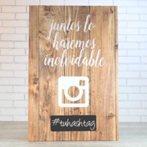 Cuadro de madera Instagram