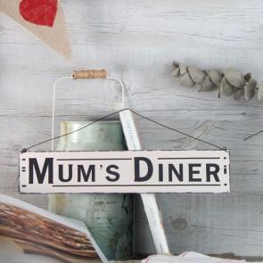 Placa de metal Mum's Dinner