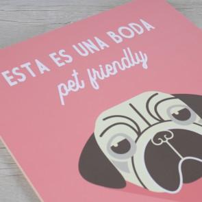 Cartel para perros en tu boda
