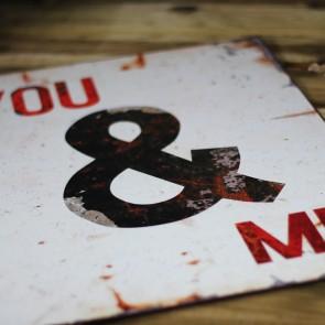 Placa de metal You & Me
