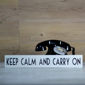 Cartel de madera Keep calm and Carry On