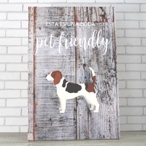 Cartel para perros personalizable