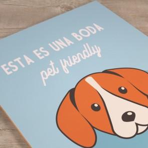 Cartel bienvenida perros