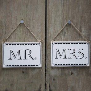 Carteles Mr Mrs vintage