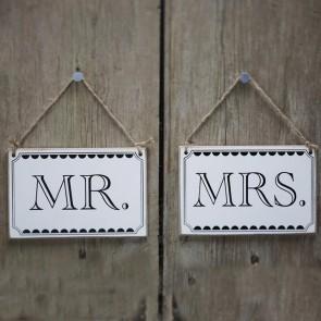Carteles Mr Mrs vintage