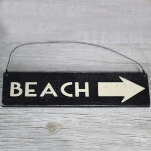 Cartel de madera Beach