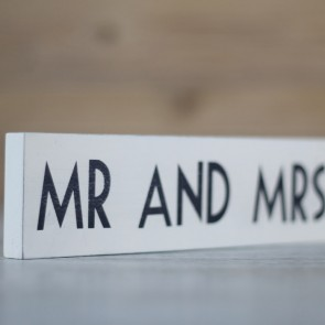 Cartel de madera Mr Mrs