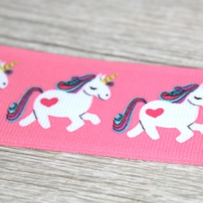 Cinta de tela unicornios