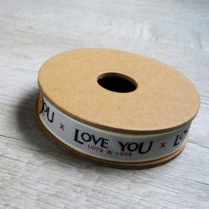 Cinta de tela Love you Lots and Lots
