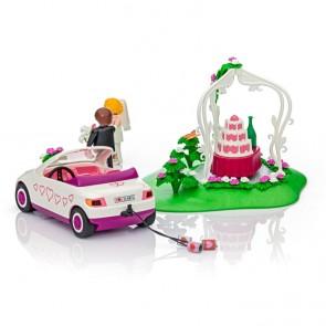 Coche de recién casados de Playmobil y novios