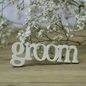 Colgante Groom crema pequeño